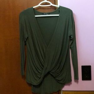 New Look Olive Green draped top